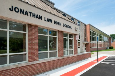 A snap shot of the Jonathan Law High School