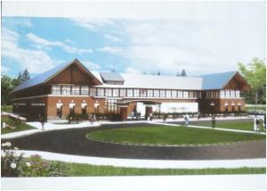 A concept drawing of the new Morgan School
