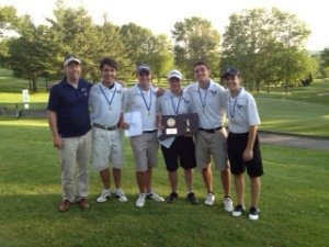 Golf Division IV Champs with Coach Bergman