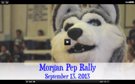 MORGAN HUSKY AT PEP RALLY