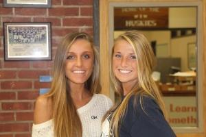 Girls Soccer Captians Lily Delaura and Ciarra Vanderveen