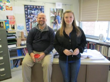 Mr. Zawadski and Kendra Dean