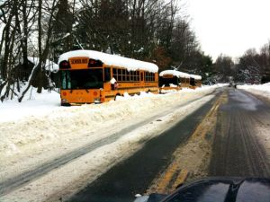 buses snow