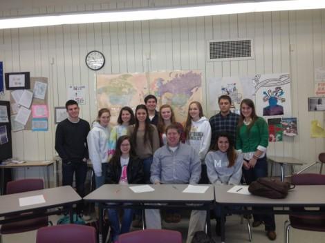 Journalis Semester One 2013; Photo w/ Evan Lipps