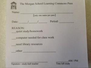 Study hall pass