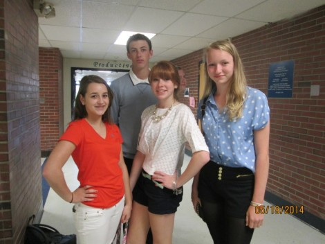 Lindsay Harden, Burton Caldwell, Alex Church, and Emma Phelps