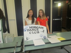 Rebecca Turner and Lindsay Harden representing the Dance Club.