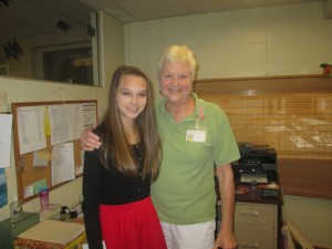 Mikaela Gaudet and Mrs.Stevens