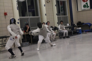 Fencing in the old Morgan cafeteria