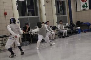 Fencing in the old Morgan cafeteria