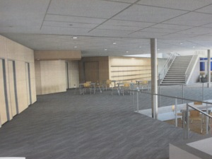 Artstic view of the top level of cafeteria