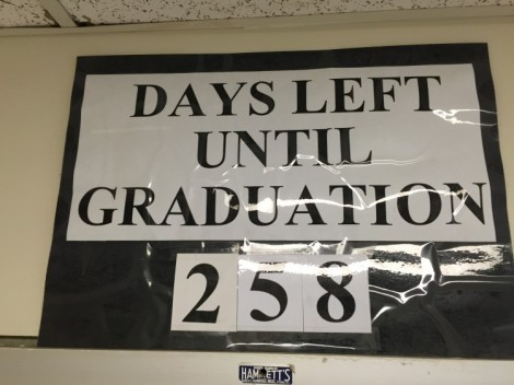 Days left until graduation