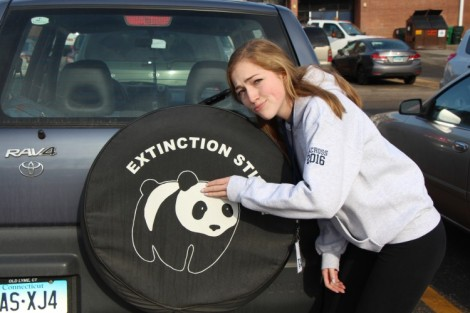 Extinction stinks tire cover