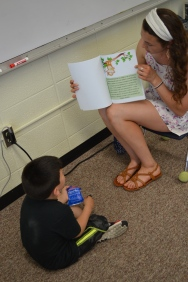 Kate reading to children