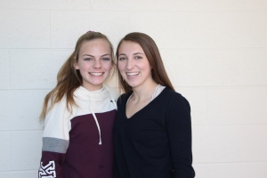 Freshmen Maura Kelly and Taylor Wyatt