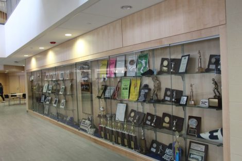 Trophy case in lower hub